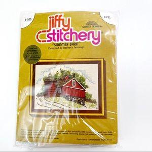 Summer Barn 5x7 Needlepoint Kit Jiffy Stitchery